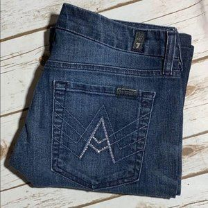 7 For All Mankind Jeans A Pocket Crystals 28 Boot